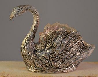 Vintage silver nickel swan,animal,bird,figurine