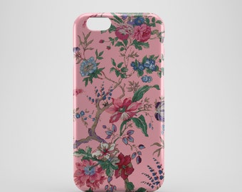 Pink Floral Phone case,  iPhone X Case, iPhone 8 case,  iPhone 6s,  iPhone 7 Plus, IPhone SE, Galaxy S8 case, Phone cover, SS132e