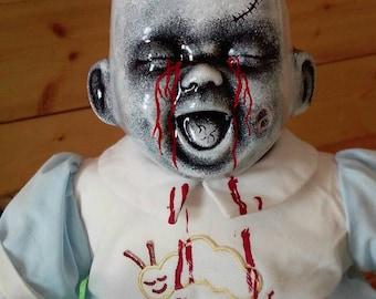 Little Liam. Crabtree's Creepy dolls, Horror baby doll, creepy doll, haunted doll.