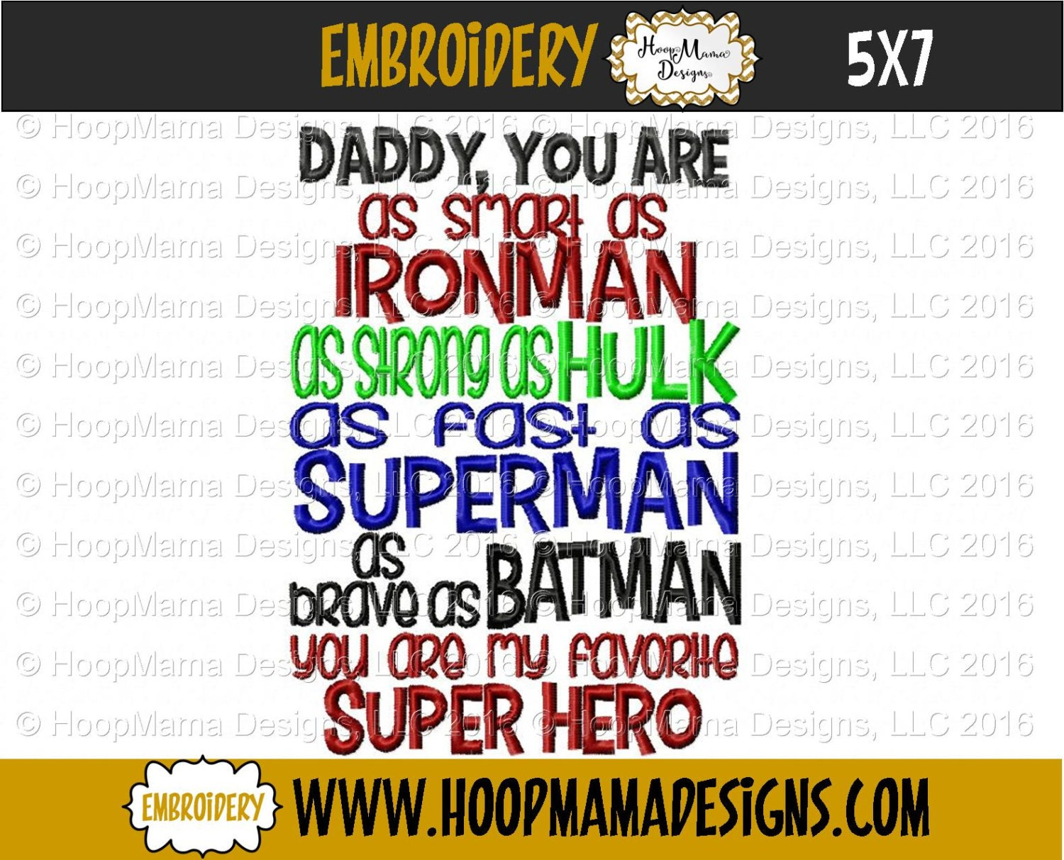 Embroidery designs for toilet paper - Daddy You Are Smart Ironman Hulk Superman Batman 5x7 6x10 Favorite Super Hero Fathers Day Machine Embroidery Design