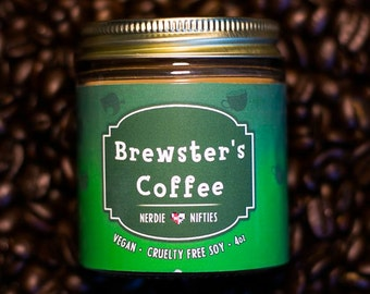 Brewster's Coffee-- Animal Crossing Inspired Soy Candle (4 oz)