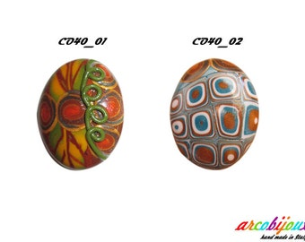 Oval cabochon in Polymer Clay