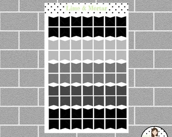 Monochrome Flag Cover Ups | EC Planner Stickers
