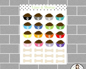 Dog Food Planner Stickers