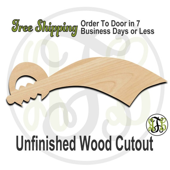 Sword 2 - 300015- Cutout, unfinished, wood cutout, wood craft, laser cut shape, wood cut out, Door Hanger, wooden, ready to paint