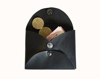 Arora coin purse - Black leather