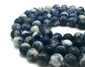 8mm Natural Sodalite Beads Round 8mm Sodalite 8mm Blue Sodalite Blue Sodalite Beads Sodalite Blue Beads Sodalite Strand Sodalite Natural