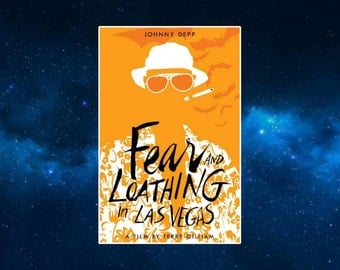 Fear and Loathing in Las Vegas Minimalist Fridge Magnet. Hunter S. Thompson. Johnny Depp