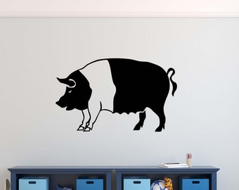 Pig Wall Decals Etsy