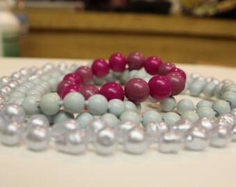 Necklace lot and bracelet