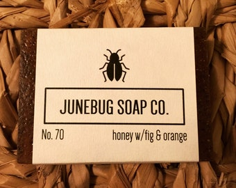 Honey w/Fig & Orange Bar Soap - Natural Soap, Honey Soap, Handmade Soap, Bar Soap, Orange Soap, Orange Peel, Homemade Soap, Vegan Soap