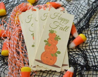 The Halloween Collection Gift Tags - Happy Fall Tags - Fall Treat Bag Tags