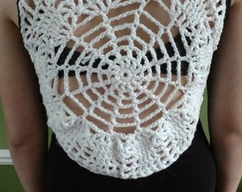 Spider Web Black Tank Top/Cami Women's Small Halloween OPEN Back GOTH