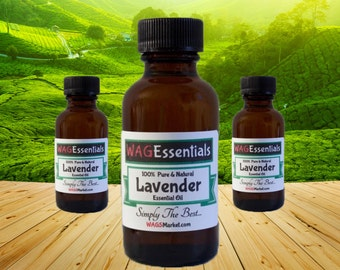 LAVENDER Essential Oil - (Amber Glass Bottle) *** Free U.S. Shipping ***