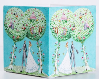 Wooden box with decoupage - wedding