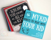 Playdate Cards | Summer Play Date | Printable Invitations | Mommy Calling Card | Classroom Invites | Mini Cards | Customizable Editable PDF!