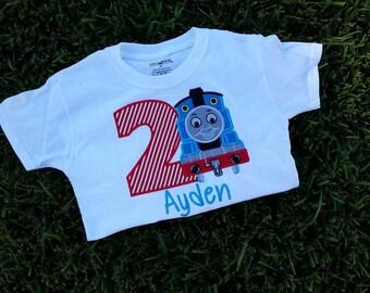 custom personalized thomas the train birthday shirt