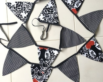 Double sided material bunting decorations - Handmade
