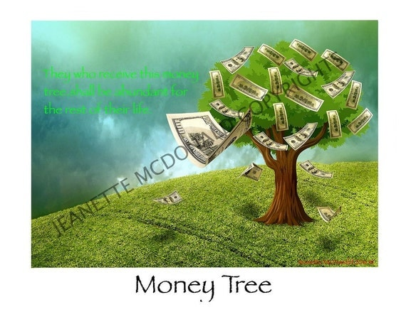 Money Tree With Quote Print By JASARBECENERGY On Etsy