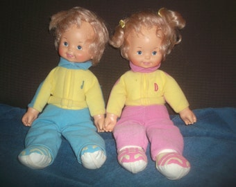 Vintage Twin Dolls By CBS Toys 1985 NICE!