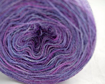 Hand Dyed Yarn - 70/30 Royal Alpaca and Silk - 100 Grams - 1200 Metres - Laceweight -  (Elizabeth 1)