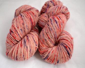 Hand Dyed Yarn, 80/20 Superwash Bluefaced Leicester and Nylon High Twist, Sockweight, sock yarn, UK yarn, Sweets