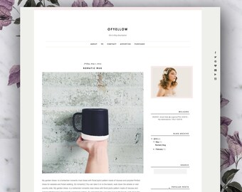 Premade Blogger Template - Ofyellow