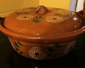 Cazuela de a Medio Clay Cooking Pot