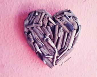 Heart wood of sea, Driftwood heart, Love