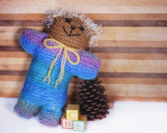 Hand Knit Teddy Bear #18