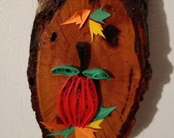 Quilled pumpkin magnet