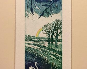 Spring. Original hand-pulled etching & aquatint. Seasons.