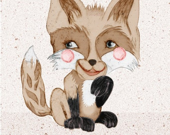A6 Birthday Card 'Happy Birthday Foxy', with white envelope