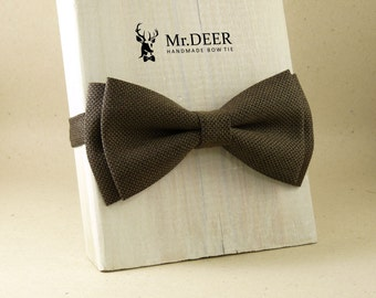 light brown dotty bow tie ready bow tie