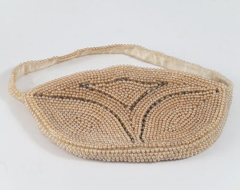 Vintage Beaded Pearl Evening Bag