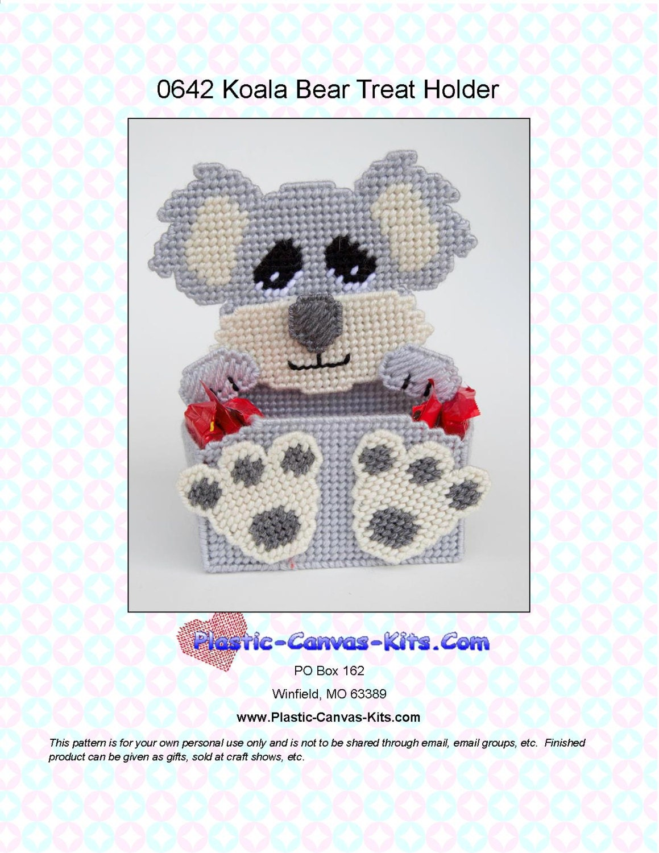 Koala bear treat holder plastic canvas pattern pdf