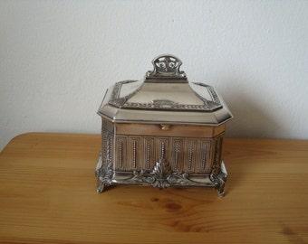 Amazing neoclassical silver jewelry box W.M.F.  1900s