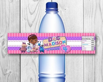 DIGITAL FILE Doc McStuffins Bottle Labels - Doc McStuffins Birthday Party - Doc McStuffins Printables - Doc McStuffins Water Label