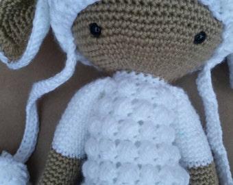 Handmade Lupo Lamb Doll