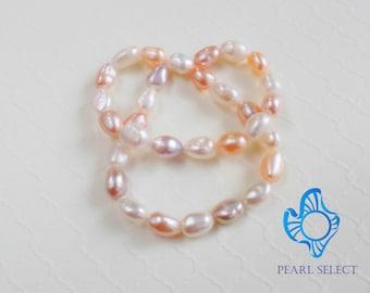 Baroque Pearl bracelet,double strands pearl bracelet,pink pearl bracelet,multi color freshwater pearl bracelets,Infinity pearl bracelet