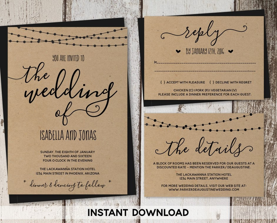 Free Wedding Invitation Suite Templates Picture Ideas References - Wedding invitation templates: wedding invitation suite templates