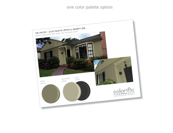 1 custom paint palette for your home 39 s exterior from for Digitally paint your house