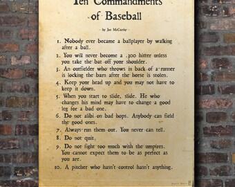 The Ten Commandments or Baseball
