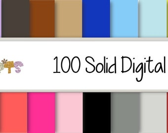 100 Solid digital Papers