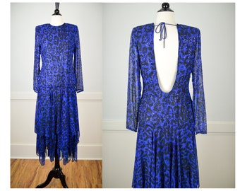 80s Party Dress, Sequins, 80s Dress, 80s Clothing, 80s Clothes, , Vintage Dress, Vintage Clothing, Vintage Clothes, Blue, Sparkly, Bedazzled