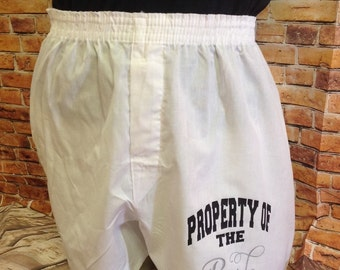 Property of the Bride boxer shorts