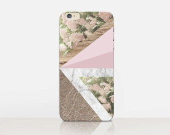 Marble Wood Print Phone Case For- iPhone 8, 8 Plus, X, iPhone 7 Plus, 7, SE, 5, 6S Plus, 6S, 6 Plus, Samsung S8, S8 Plus, S7, S7 Edge