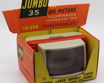 Johnson Jumbo 35 Big Picture Slide Viewer with original display box – Vintage and fully working – GC