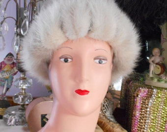 Cool 1960's Silver Mink Hat