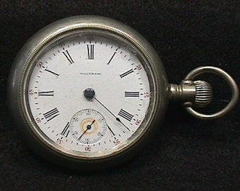 Antique American Waltham Pocket Watch  # 24